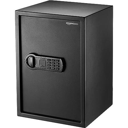Amazon Basics Home Keypad Safe - 1.8 Cubic Feet, 13.8 x 13 x 19.7 Inches, Black - 50SAM
