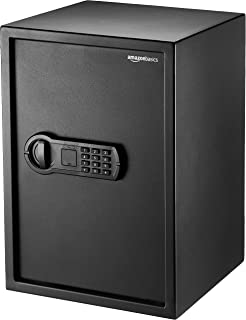 AmazonBasics Home Keypad Safe – 1.8 Cubic Feet, 13.8 x 13 x 19.7 Inches, Black – 50SAM