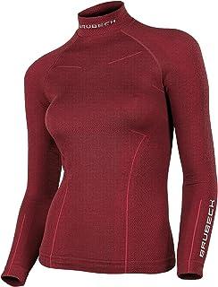 0bb40aeff5ff Brubeck® LS11930 Bodyguard Wool Señoras Camiseta de Manga Larga Térmica  Merino (Ropa Interior Elástica