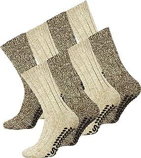 f5974ea1b660c VCA Lot de 2 ou 4 paires de chaussettes norvégiennes en laine - picots  antidérapants