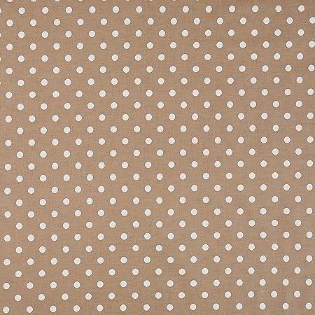 Vinylla Nappe, toile cirée en coton avec revêtement en vinyle, facile à nettoyer, motif à pois, couleur taupe, Vinyle Coton, Round(Dia.140 cm)