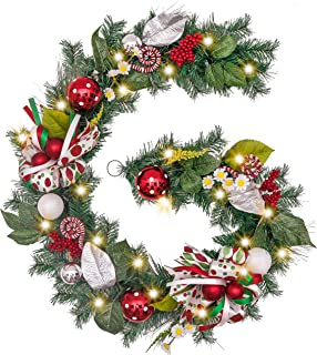 Best decorated christmas garland with ribbon Reviews