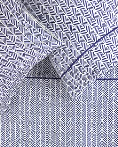 Melange Home Printed Cotton 400 Thread Count Blue Arrow Embroidered Sheet Set Queen