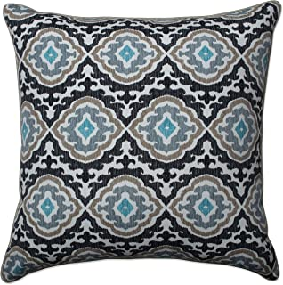 Pillow Perfect 25 Inch Floor Pillow Outdoor Tufted Bench Swing Cushion, 25 in. L X 25 in. W X 5 in. D, Black