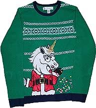 Christmas Santa Claus Unicorn Green Pullover Sweater