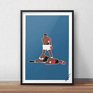Ilustración inspirada en Muhammad Ali