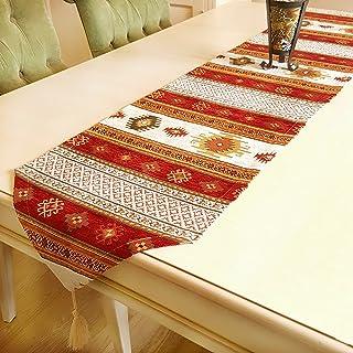 Camino de mesa de lujo de Anatolia serie Rojo Blanco (228x37 cm)