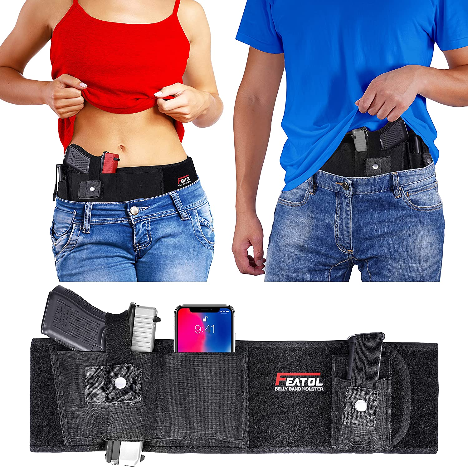 Same day shipping Spring new work one after another Belly Band Holster for Concealed Men Gun Holsters Wom Carry