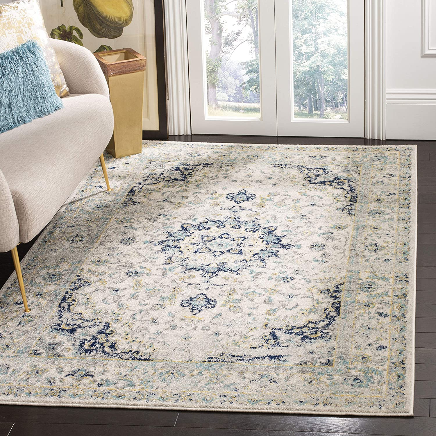 Safavieh Spring new work Madison Collection sale MAD155M Chic Non-Shed Medallion Boho