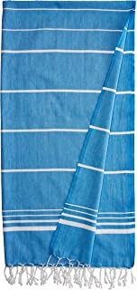 CACALA Paradise Series Turkish Bath Towels – Traditional Peshtemal Design for Bathrooms, Beach, Sauna – 100% Natural Cotto...