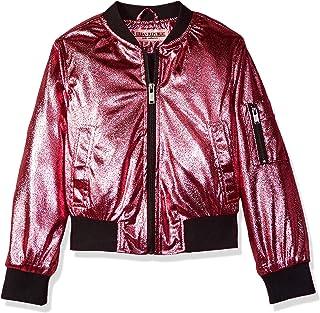 Urban Republic 女孩 PU 裂纹金属 粉红色 4T