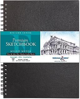 """Stillman & Birn Epsilon Series Wirebound Sketchbook, 9"""" x 12"""", 150 gsm (Heavyweight), White Paper, Smooth Surface"""