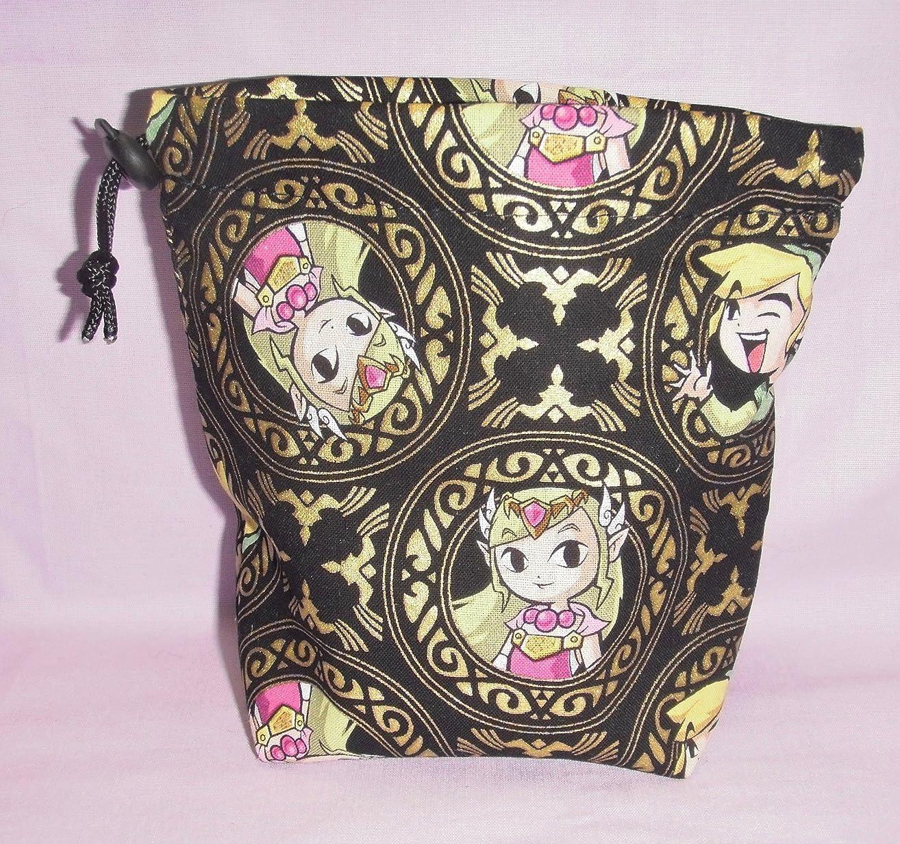 Legend of Zelda Link/Zelda Cloth Drawstring Dice Bag