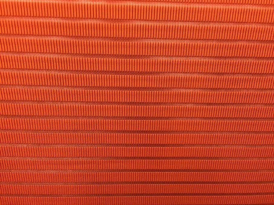 Knit Stretch Rust Fabric Mandarin Orange open line Design Color 3 Yard 58' Wide