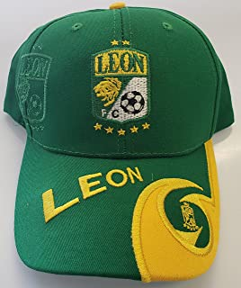 New! Club Deportivo Leon La Fiera Embroidered Adjustable Soccer Cap
