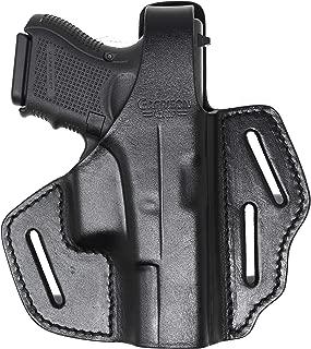 Garrison Grip Black Italian Leather 2 Poistion Tactical Holster for Glock 26 27 33 39
