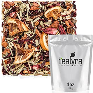 Tealyra - Peachy Lemongrass - Hibiscus - Orange - Herbal Wellness Loose Leaf Tea - Fruity - Hot and Iced Drink - Vitamins and Antioxidants Rich - Caffeine Free - All Natural - 112g (4-ounce)