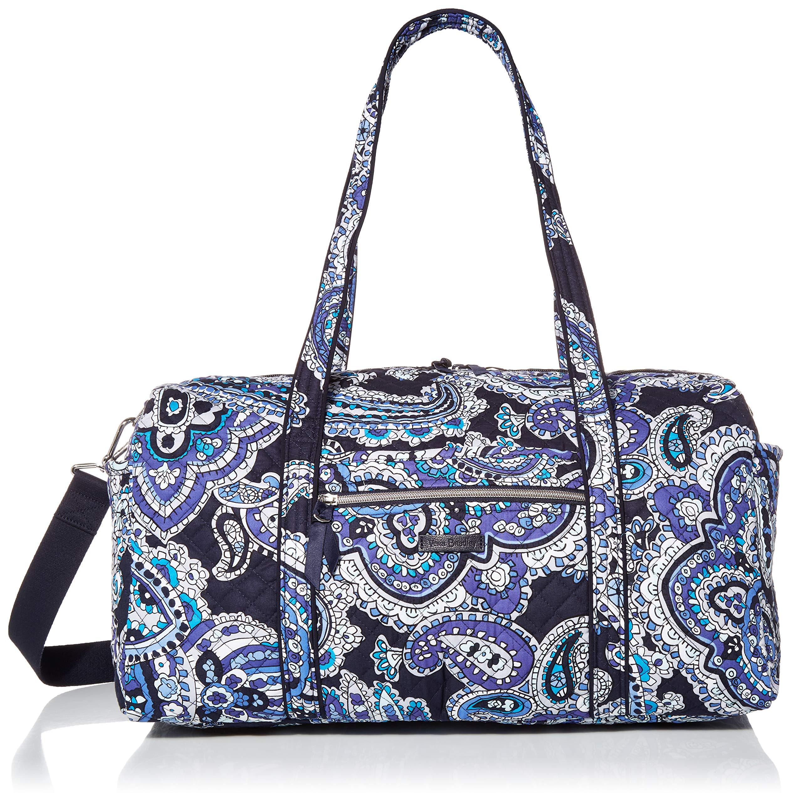 Women's Signature Cotton Small Travel Duffel Bag, Deep Night Paisley, One size