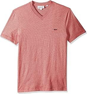 Lacoste Men's Short Sleeve Striped Jersey Raye Regular Fit T-Shirt