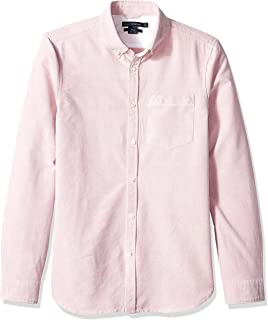 French Connection Mens 52LAY Brushed Oxford Long Sleeve Button Down Shirt Long Sleeve Button Down Shirt