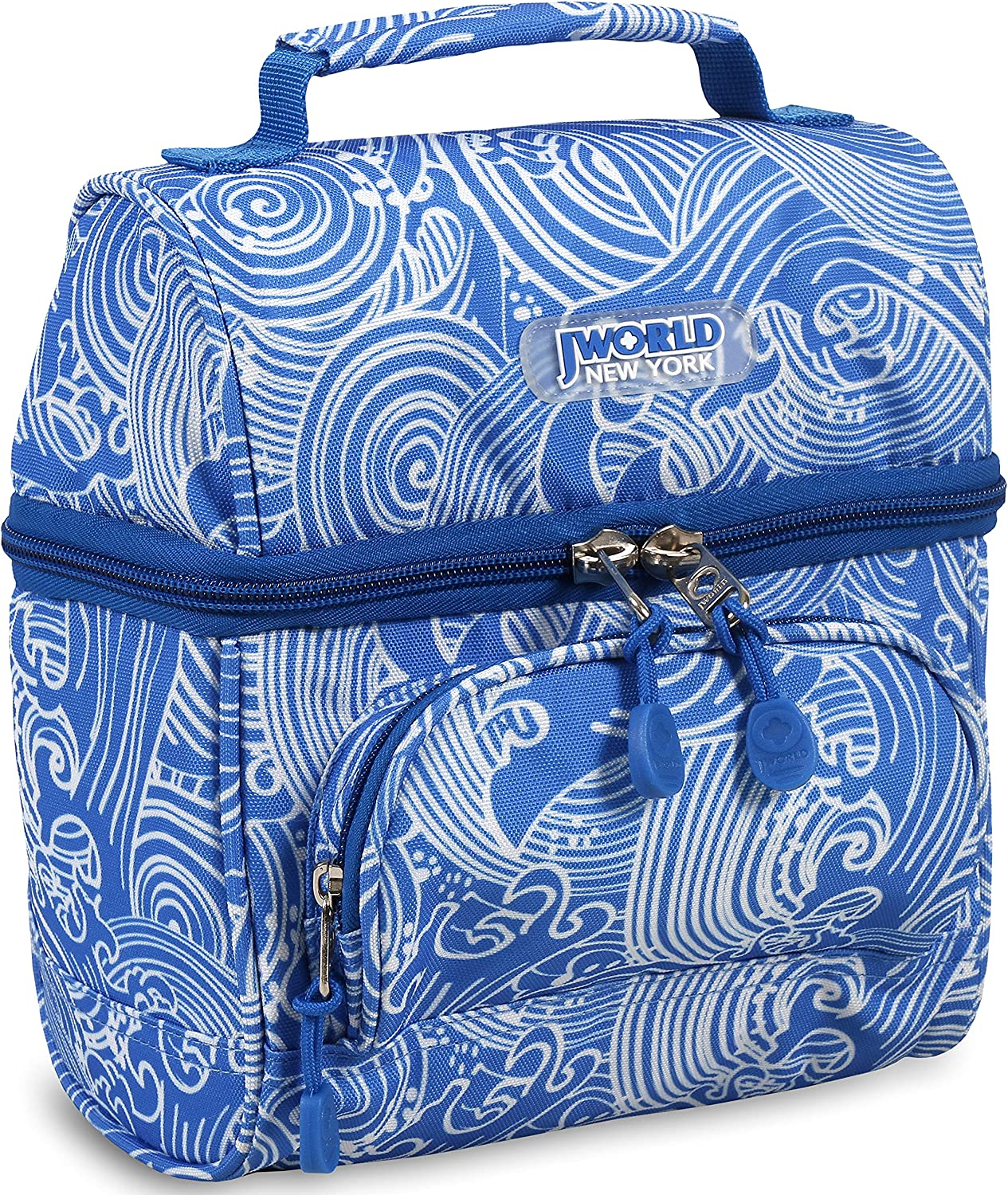 J World Corey Kids Lunch Bag. Insulated Lunch-Box for Women, Wave