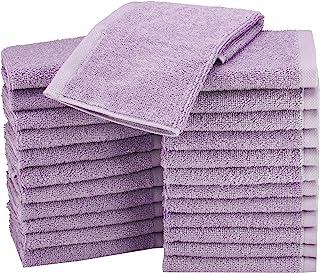 AmazonBasics Cotton Washcloth/Face Towel - 448 GSM - Pack of 24, Lavender