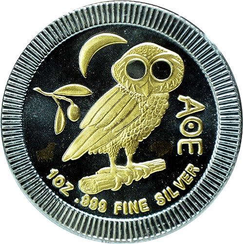 MCI-MINT Eule von Athen, Bull&Bear schwarzline 2017, 1oz Silber 0.999