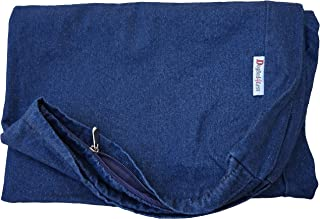 Heavy Duty Navy Blue Denim Jean Dog Pet Bed External Duvet Cover for Small Medium to Extra Large Pet Bed - Replacement Cover only