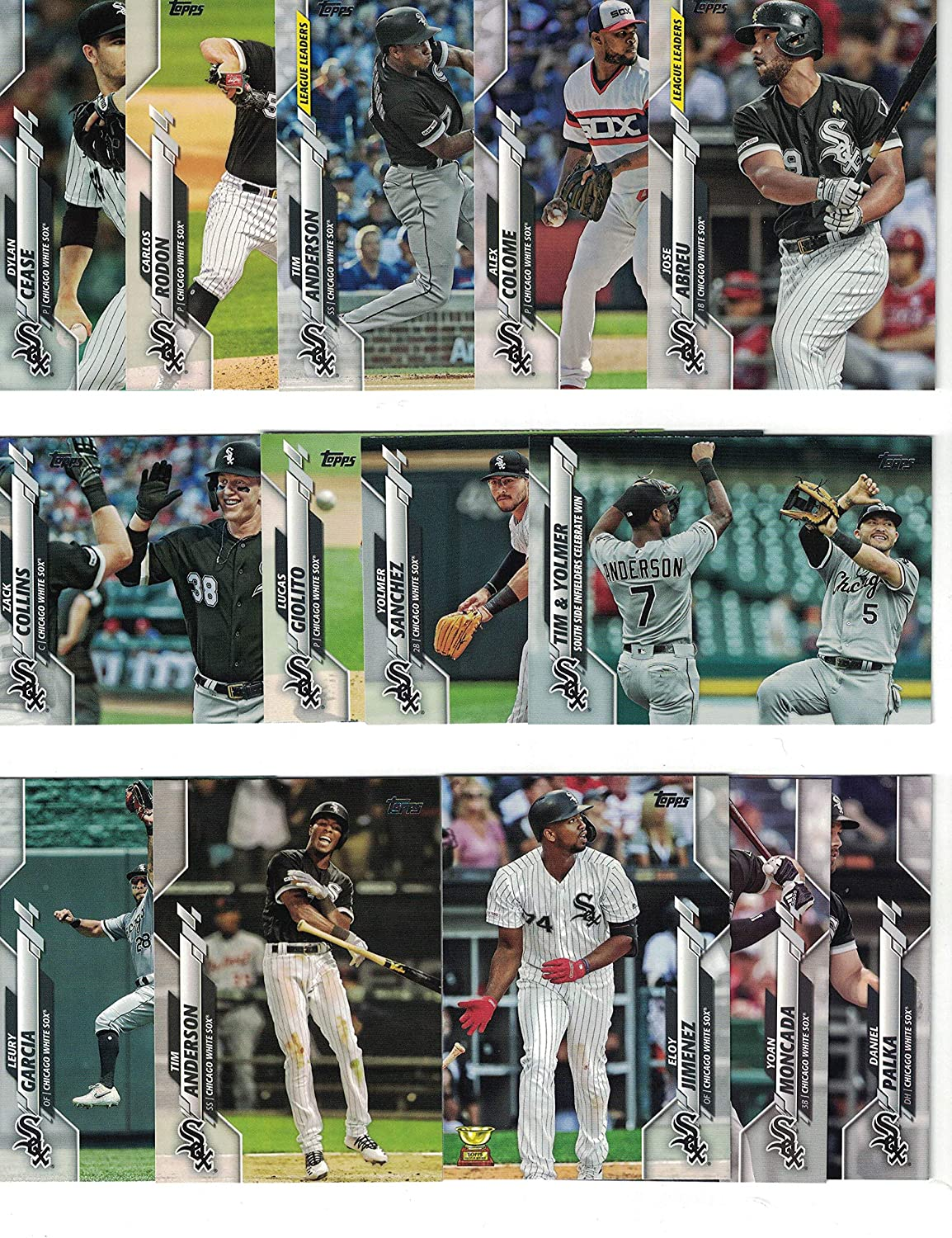 Chicago White Sox Complete 2020 Topps White Sox Baseball Team Set 26 Cards Series 1 And 2 Eloy Jimenez Luis Robert Rookie Card Plus 2020 Topps Heritage White Sox Team Set 9 Cards