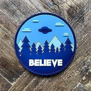 Believe UFO Aliens PVC Morale Patch - Hook Backed by NEO Tactical Gear