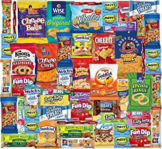 Snacks Box (48 Count) Ultimate Sampler Mixed Box, Cookies Chips Candy Care Package for Office Meetings Schools Friends & F...