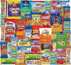 Snack Box Variety Pack (48 Count) Ultimate Sampler Mixed Box, Cookies Chips Candy Care Package for Office Meetings Schools Friends & Family Military College Students Final Variety Pack