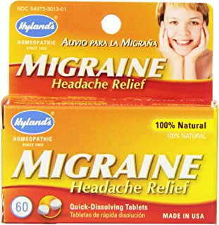 Hyland's Migraine Headache Relief Tablets, Natural Relief of Migraine Pain, 60 Count