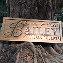 personalized carved wooden signs