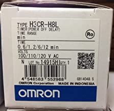 OMRON INDUSTRIAL AUTOMATION H3CR-H8L AC100-120 M SOLID STATE TIMER, DPDT, 12MIN, 120VAC