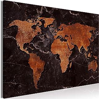 murando Impression sur Toile intissee Carte du Monde 90x60 cm Tableau Tableaux Decoration Murale Photo Image Artistique Ph...