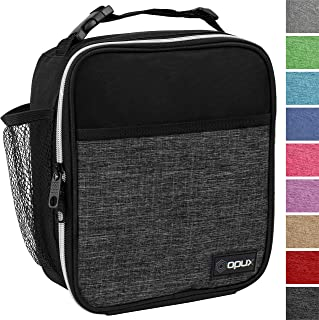 OPUX Premium Insulated Lunch Box | Soft Leakproof School Lunch Bag for Kids, Boys, Girls | Durable Reusable Work Lunch Pail Cooler for Adult Men, Women, Office Fits 6 Cans (Heather Charcoal)