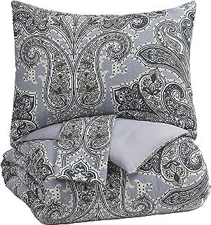 Signature Design by Ashley Susannah King Comforter Set, Blue/Cream