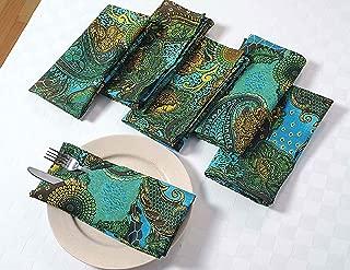 Colorful Paisley Cotton Dinner Napkins - 20
