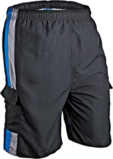 Phantom Aquatics Seaboard Surf Wear Mens Swim Trunks - Bkbl-2XL, Black Blue, XX-Large