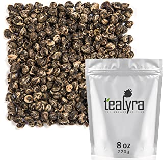 Tealyra - Imperial Jasmine Dragon Pearls - Loose Leaf Green Tea - Jasmine Green Tea with Pleasant Aroma and Tonic Effect - 220g (8-ounce)