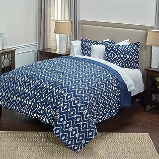 Rizzy Home Comforter Set, CFSBT3002NTIN9092, Natural/Indigo, Queen