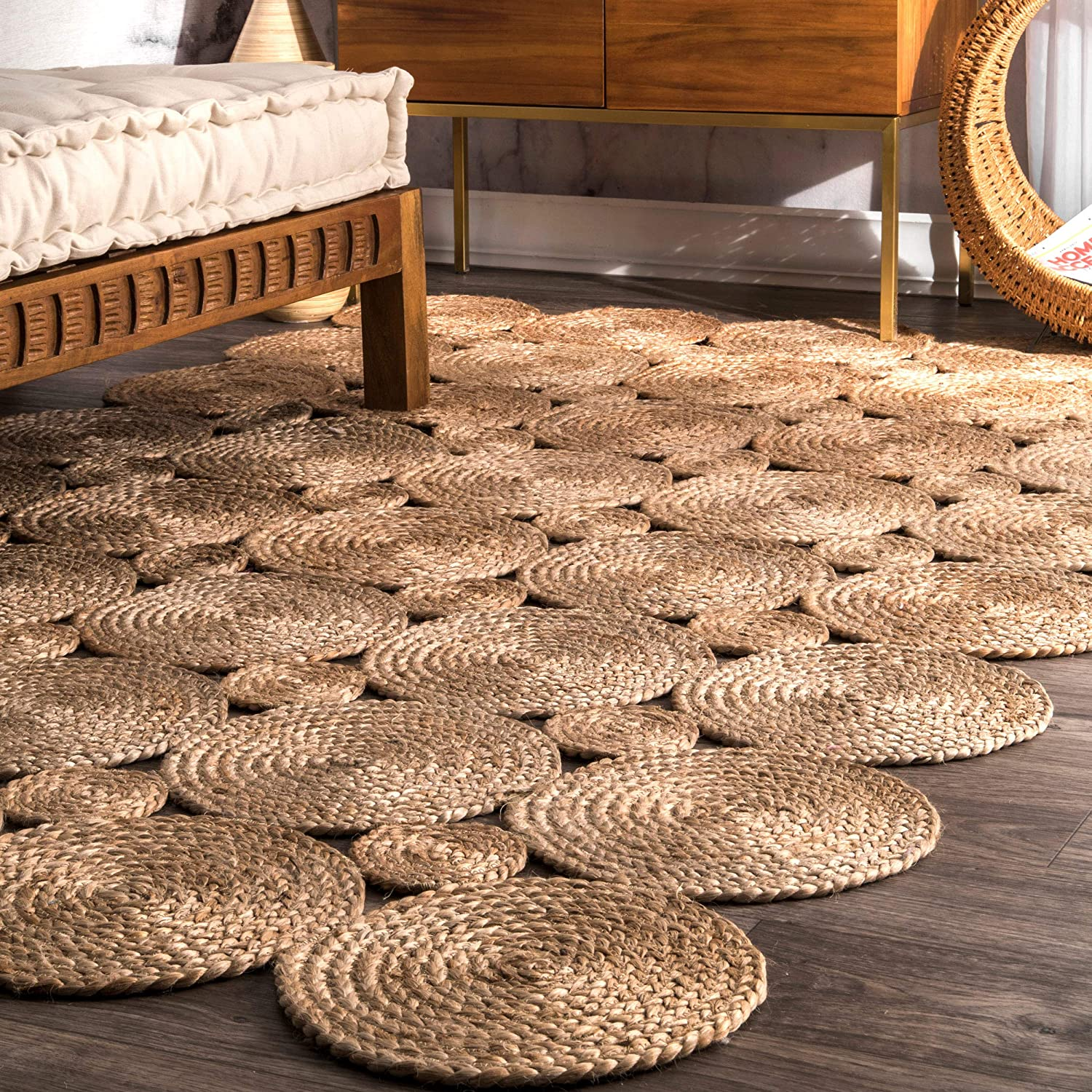 Louisville-Jefferson County Mall nuLOOM Drusilla Hand Woven Credence Jute Area x 6' Rug 9' Natural