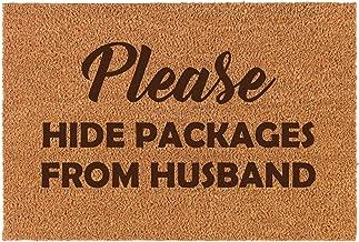 Daylor Coir Door Mat Doormat Funny Please Hide Packages from Husband