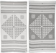 Bersuse 100% Cotton Oeko-TEX Certified Aruba Handloom Turkish Towel Pestemal - 39X71 Inches, Silver Gray