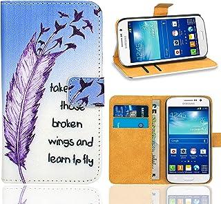 c09f0b719f1 Samsung Galaxy Grand Neo Plus Funda, FoneExpert® Wallet Flip Billetera  Carcasa Caso Cover Case