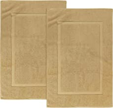 Utopia Towels 21-Inch-by-34-Inch Cotton Washable Bath Mat 2 Pack Champagne