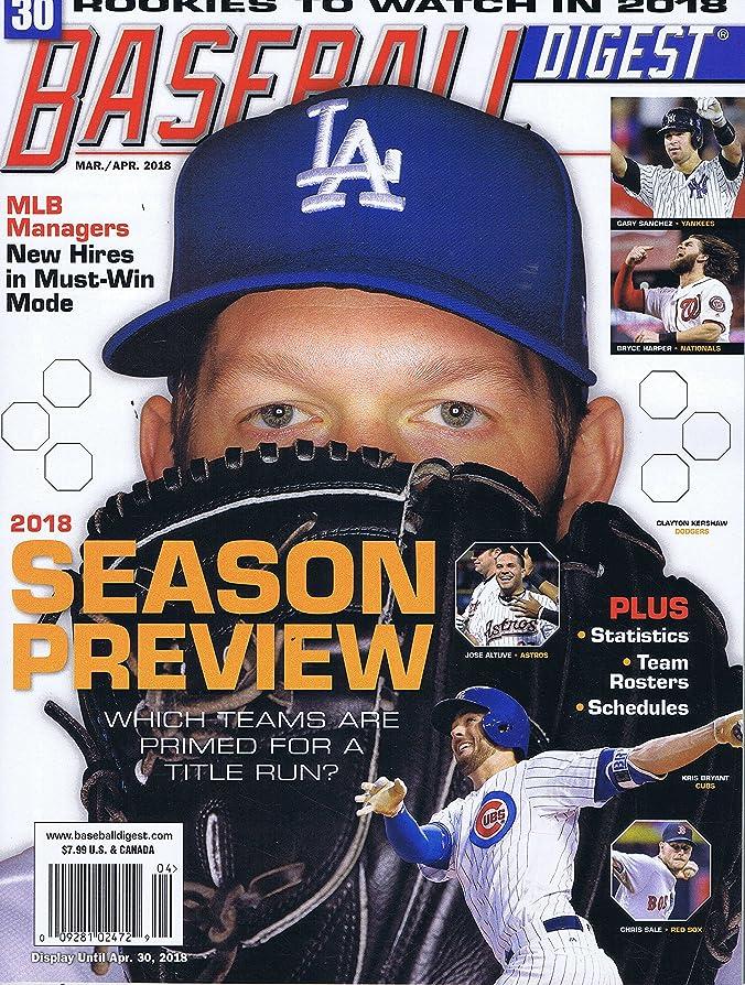満足させる予見するデッキBaseball Digest [US] March - April 2018 (単号)