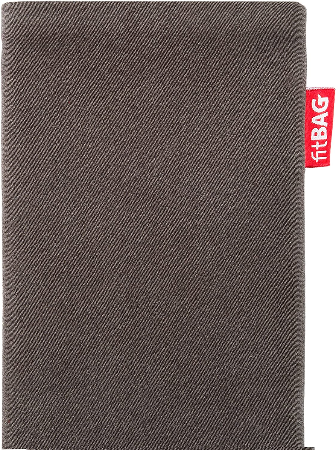 Made in Germany fitBAG Twist Gray custom tailored sleeve for Apple iPhone 12 Fine suit fabric pouch case cover with MicroFibre lining for display cleaning iPhone 12 Pro