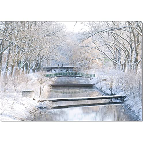 Snow Scene Christmas Cards Amazon Co Uk